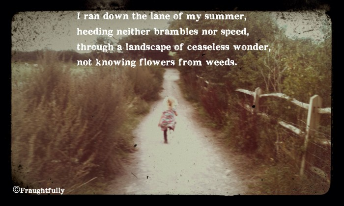Not knowing flowers from weeds
